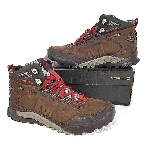 146d881637 Merrell Annex Trak Mid Waterproof Hiking Boots NEW.  M_5c219355035cf18ac8eb0361